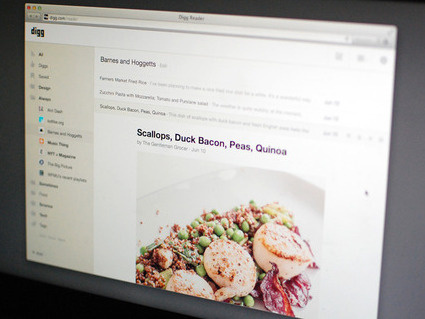 An image shows the new Digg Reader, built as an option to replace Google Reader. The RSS subscription service will be discontinued on July 1, Google says.