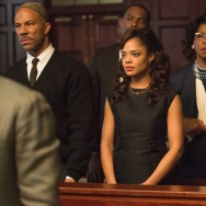 Common plays James Bevel, Tessa Thompson plays Diane Nash, Lorraine Toussaint plays Amelia Boynton and Andre Holland plays Andrew Young in Ava DuVernay's Selma.