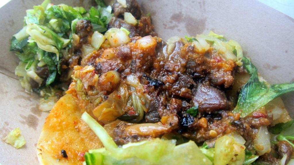 Spicy pork taco at Kogi.
