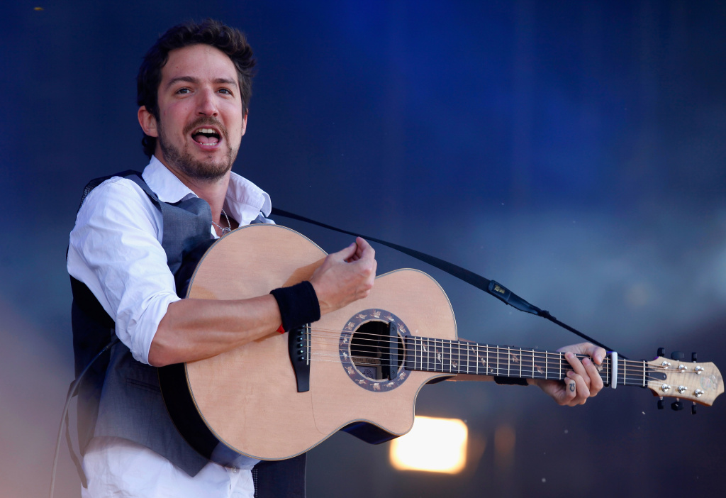 Frank Turner performs live on the Main Stage during day three of Reading Festival 2011 on August 28, 2011 in Reading, England.