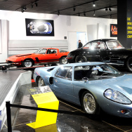 A general view of atmosphere at the World's Greatest Sports Coupe exhibit opening celebration with Jaguar at the Petersen Automotive Museum.