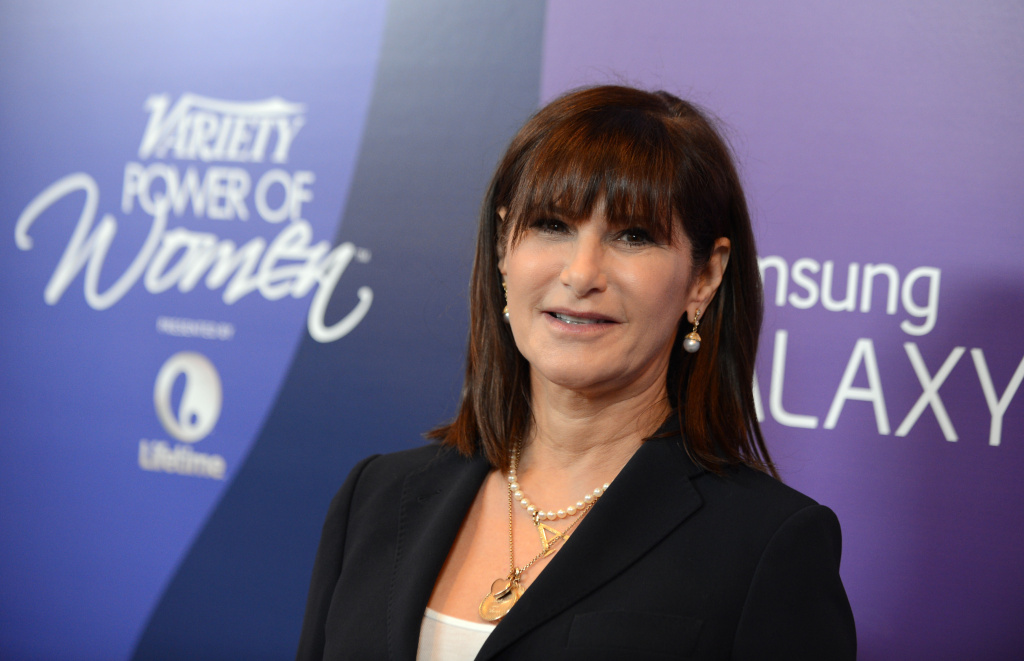 Amy Pascal, Sony Pictures Entertainment co-chairman, arrives at Variety's 5th Annual Power of Women event at the Beverly Wilshire Hotel on Friday, Oct. 4, 2013, in Beverly Hills, Calif.