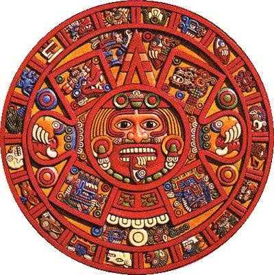 A Mayan calendar. Only one ancient Mayan text references 2012 -- and not in a negative context.