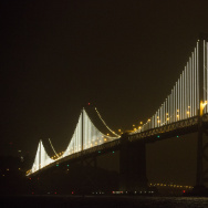 World's Largest LED Light Sculpture Lights Up The Bay Bridge
