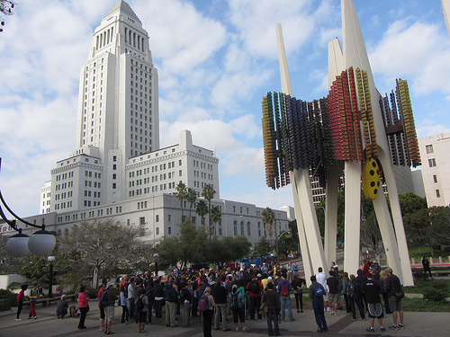 The Great Los Angeles Walk in 2011 at City Hall