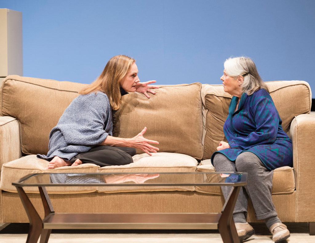 "Lisa Emery, left, and Lois Smith are in the world premiere of Jordan Harrison's ""Marjorie Prime"" at the Center Theatre Group/Mark Taper Forum."