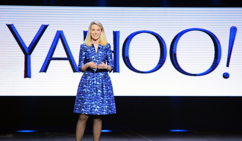 Yahoo! President and CEO Marissa Mayer delivers a keynote address at the 2014 International CES at The Las Vegas Hotel & Casino.