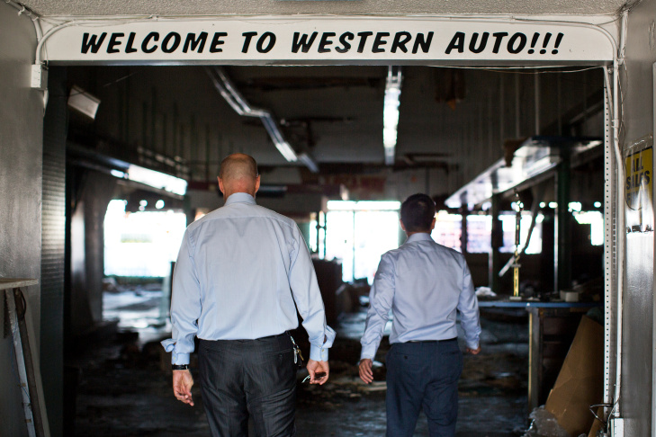 The old Western Auto Supply store is now city-owned. An associate of former Bell City Manager Robert Rizzo owned the shop.