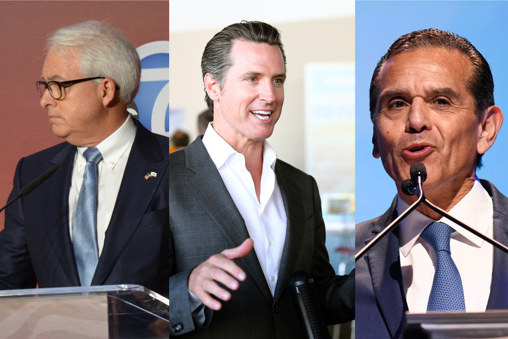 California gubernatorial candidates (L-R) Tom Cox, Gavin Newsom, and Antonio Villaraigosa, were the three to watch going into Tuesday's primary election.