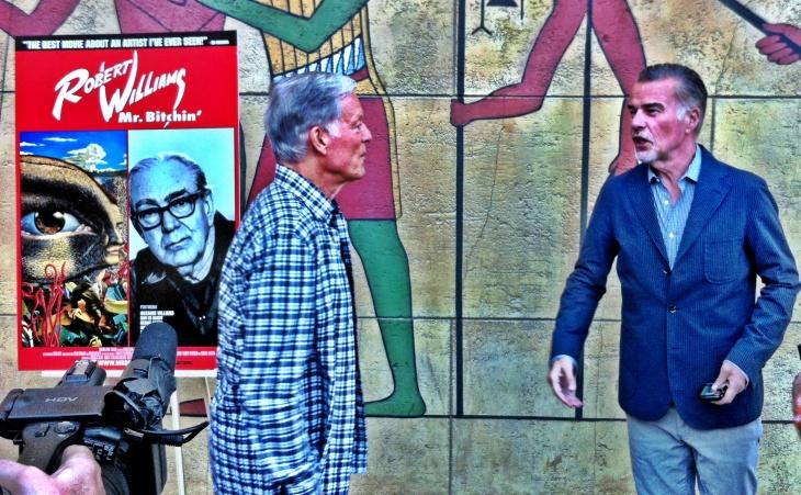 Actors Richard Chamberlain and Ian Buchanan (from