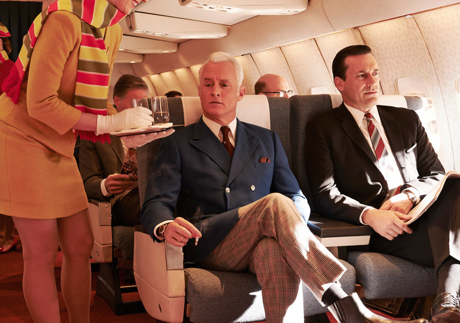 John Slattery (left) and Jon Hamm play two of the key characters in
