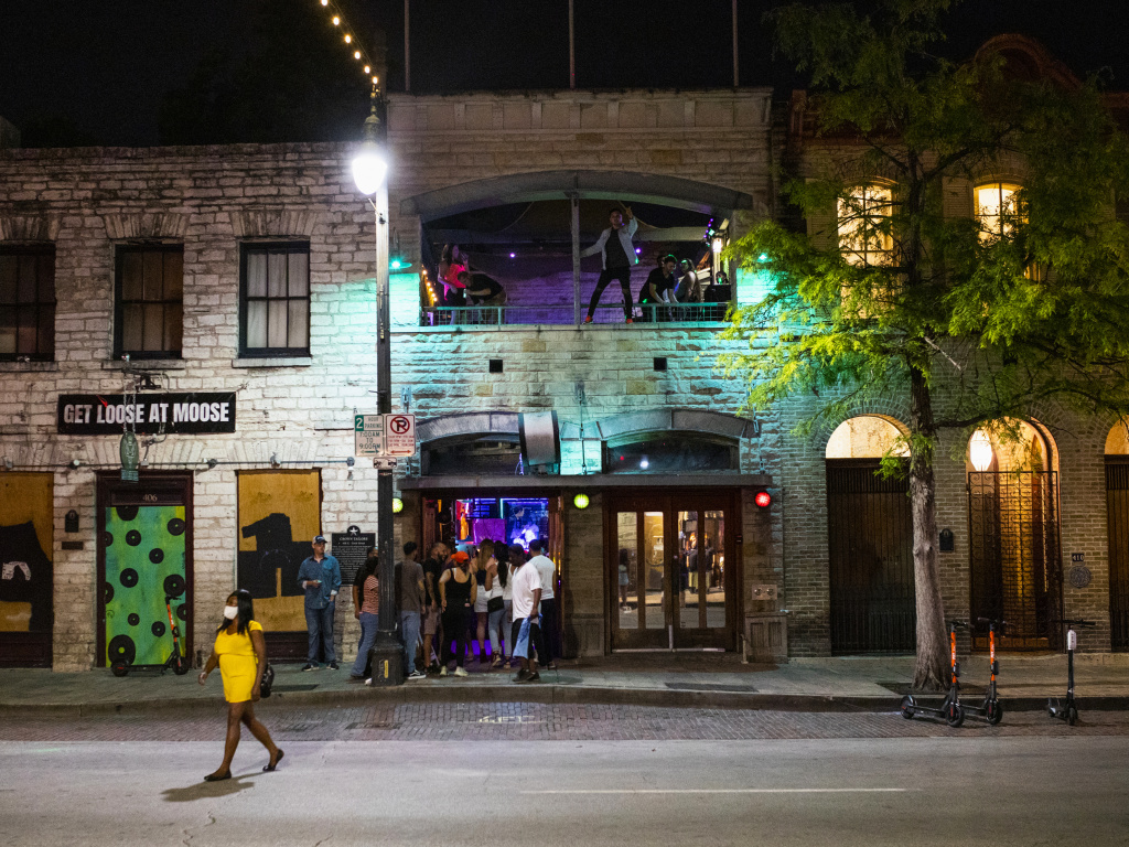 Texas bars such as this one in downtown Austin were allowed to reopen last month. Now the governor is ordering that they close to contain the spread of the coronavirus.