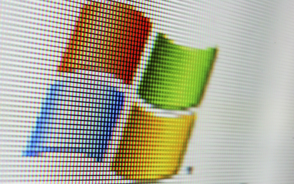 In this photo illustration the logo of the multi-facetted internet giant Microsoft is displayed on a  computer screen on April 13, 2006 in London, England.