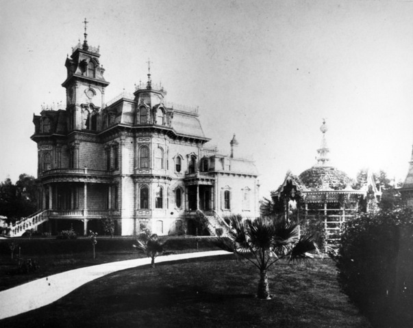 The California Governor's mansion.