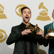 Macklemore and Ryan Lewis -GRAMMY AWARDS-TROPHY