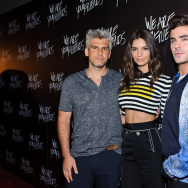"Director/Screenwriter Max Joseph, Emily Ratajkowski, and Zac Efron attend the Chicago premiere of ""We Are Your Friends"" at Showplace Icon Theater on August 19, 2015 in Chicago, Illinois"