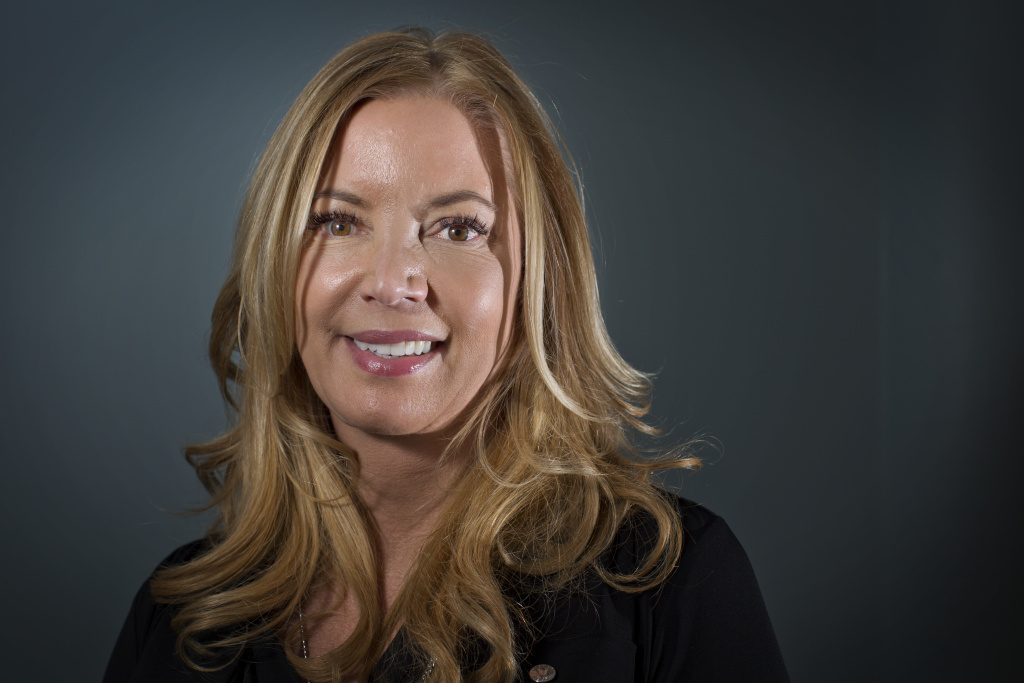 Jeanie Buss followed her father into the sports management business at 19.  She says this past season was