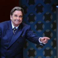 "Beau Bridges attends the curtain call of ""How To Succeed In Business Without Really Trying"" on Broadway at The Hirshfeld Theatre on January 24, 2012 in New York City."