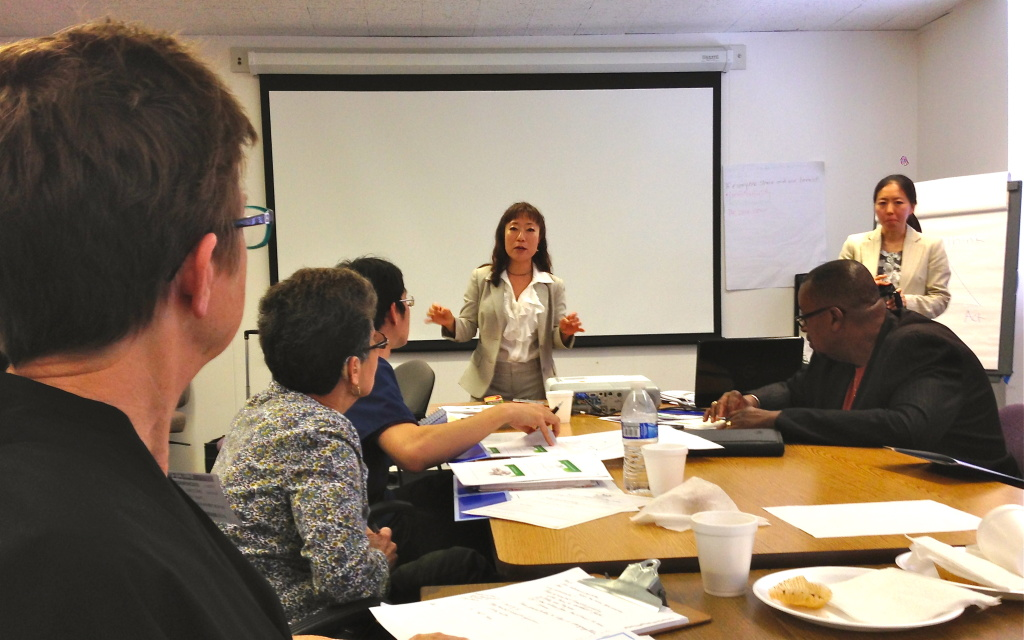 Young Ahn of the LA County Department of Mental Health works with clergy and pastors on talking mental health with their flock.