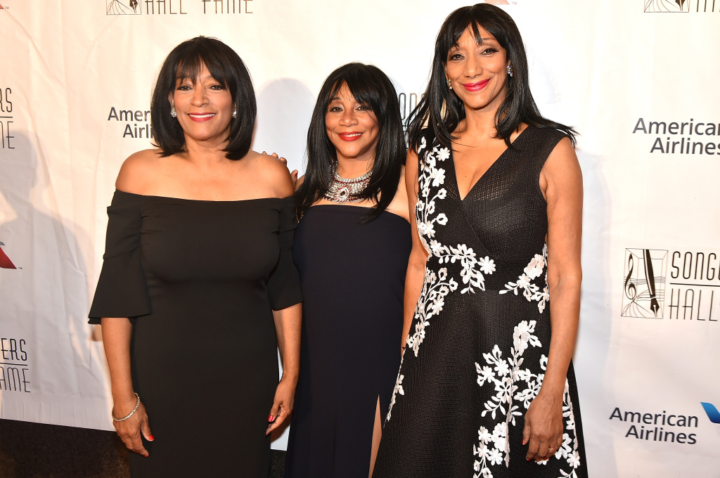 File: (L-R) Musicians Kim Sledge, Joni Sledge, and Debbie Sledge attend Songwriters Hall Of Fame 47th Annual Induction And Awards at Marriott Marquis Hotel on June 9, 2016 in New York City.