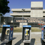 A bank of public phones outside Men's Ce