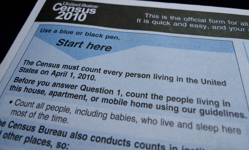 FILE: The official U.S. Census Bureau form pictured on March 18, 2010 in Washington, D.C.