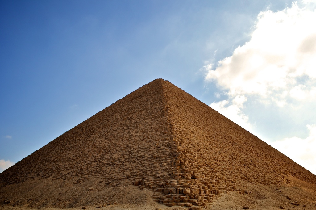 The Red Pyramid in Egypt.
