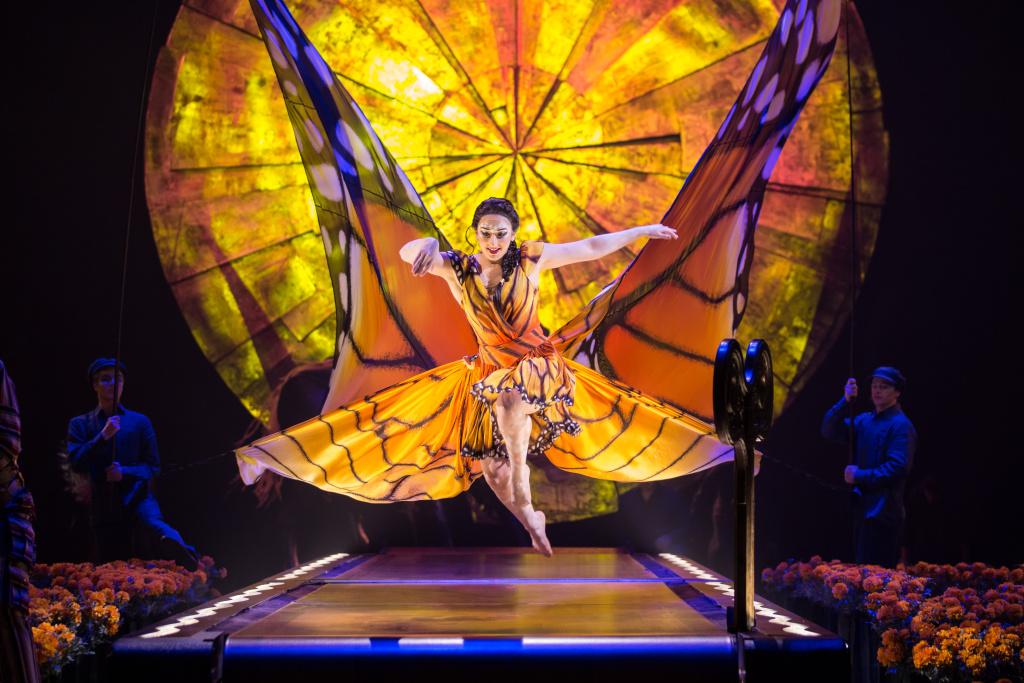 A scene from Cirque du Soleil's