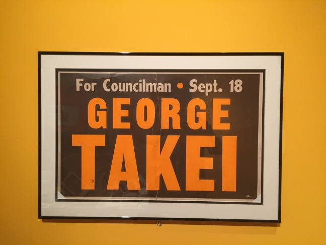 Ephemera from George Takei's political career at the Japanese American National Museum's exhibit