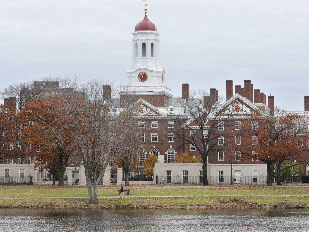 A file photo shows the campus of Harvard University in Cambridge, Mass. Dr. Anthony Rostain, co-author of <em>The Stressed Years of Their Lives, </em>says today's college students are experiencing an