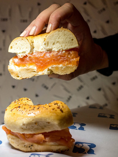 Bagels and lox from New York-based