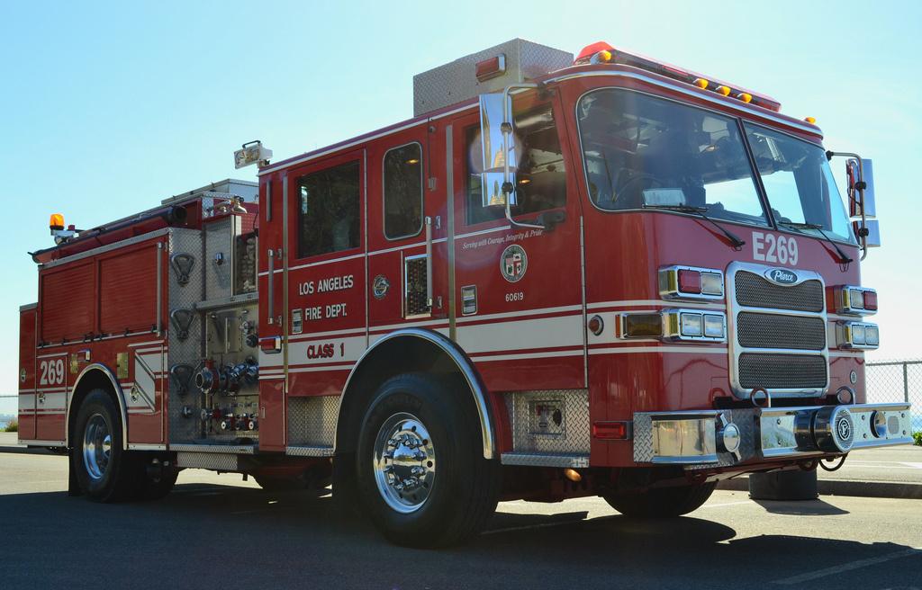 An LAFD fire truck.
