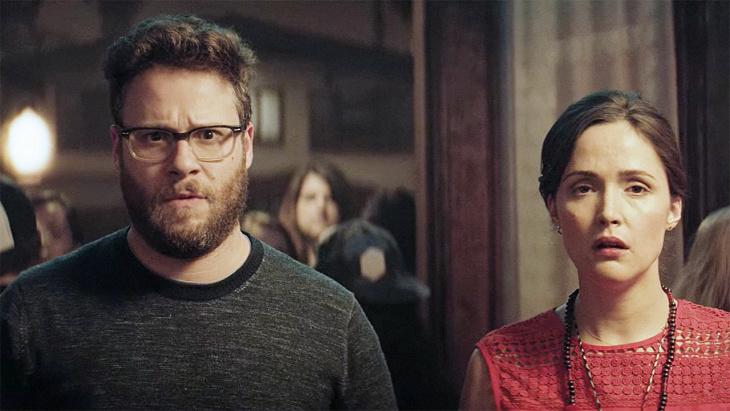 Chloë Grace Moretz (center) stars in Nicholas Stoller's sequel,