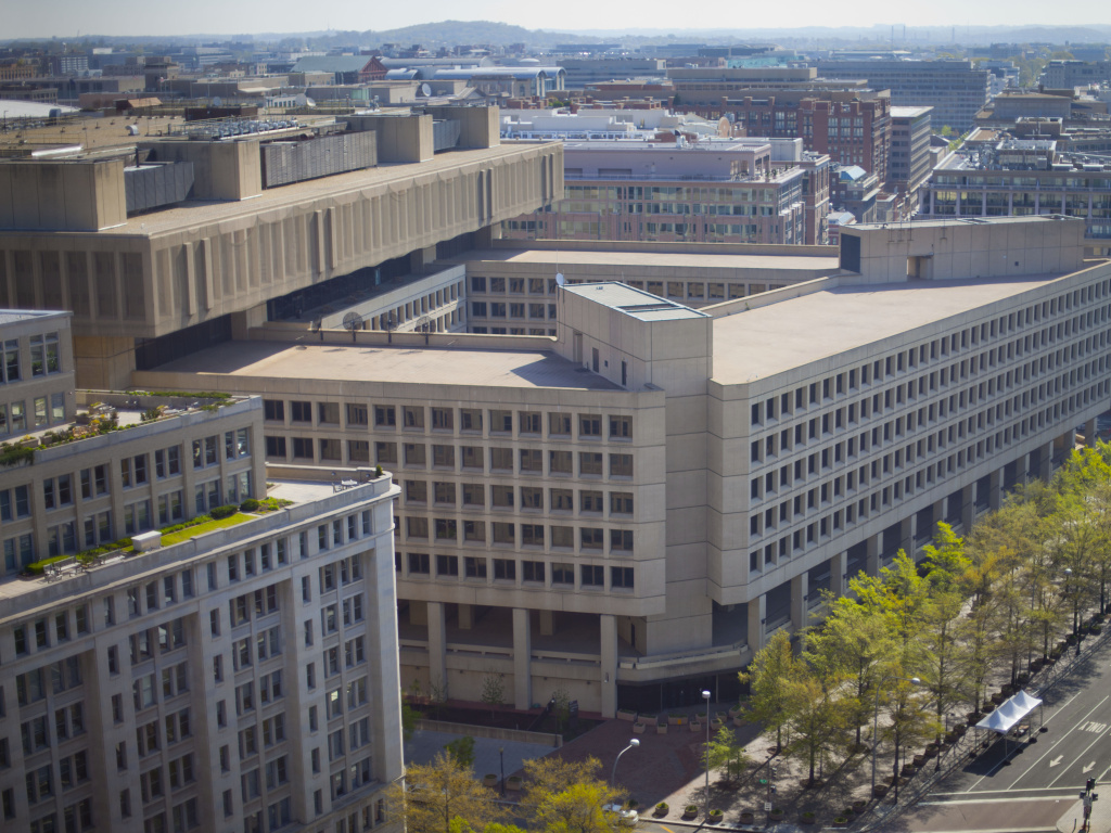 The FBI headquarters in Washington. An independent review says the bureau has made strides since 9/11, but
