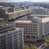 "The FBI headquarters in Washington. An independent review says the bureau has made strides since 9/11, but ""needs to accelerate its implementation of reforms."""
