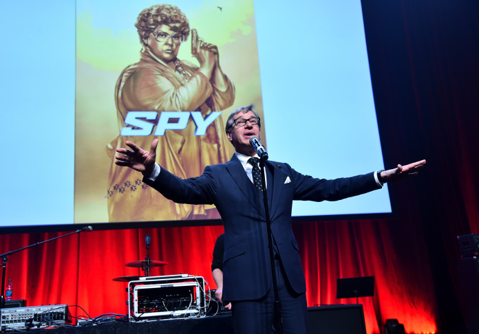 Writer/director Paul Feig speaks at CinemaCon, the official convention of the National Association of Theatre Owners, on April 21, 2015 in Las Vegas, Nevada.