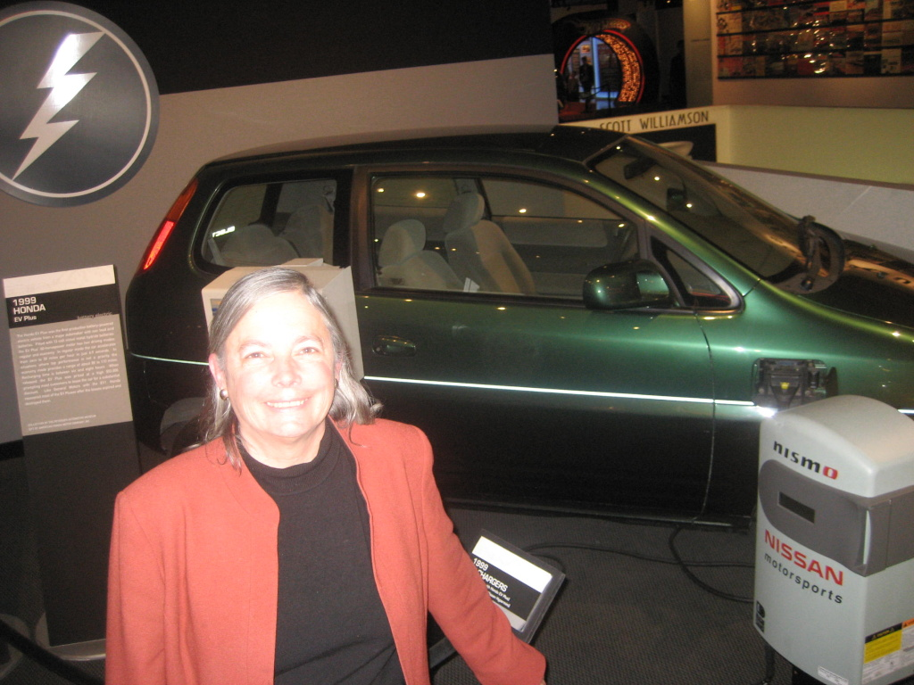 State Senator Fran Pavley, author of California Aseembly Bill 1493 in 2001,  at the Petersen Automotive Museum.