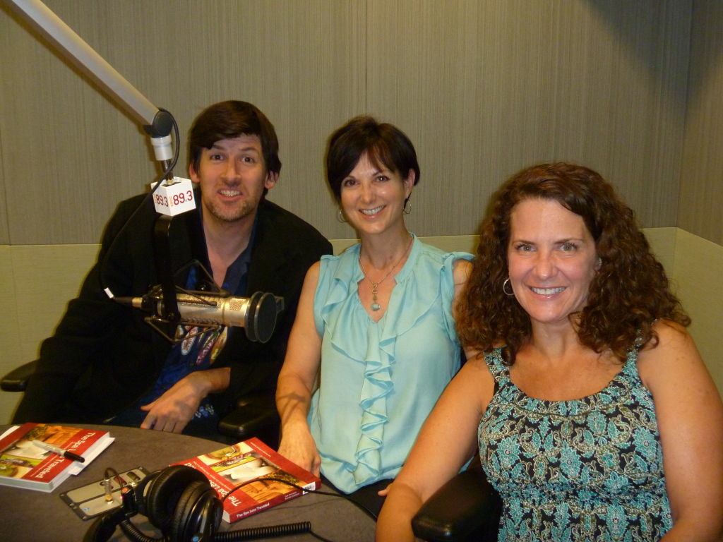 Off-Ramp host John Rabe with Gail Herndon and Brenda Goldstein.