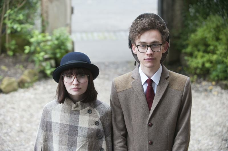 Actors Emily Browning and Olly Alexander in the film