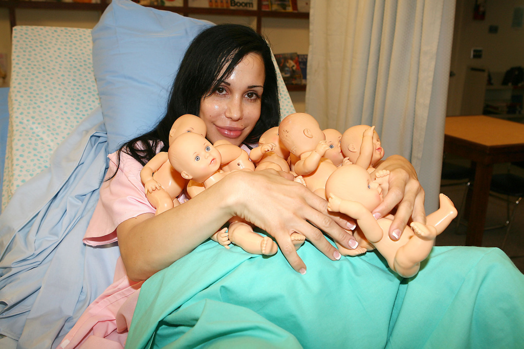 Nadya Suleman, known as the Octomom, poses for an undated photo in New York to promote an appearance on MTV.