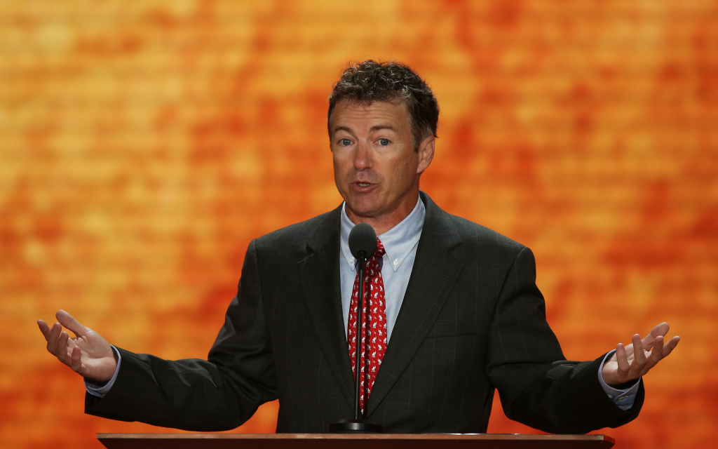 File: U.S. Sen. Rand Paul (R-KY) speaks during the third day of the Republican National Convention at the Tampa Bay Times Forum on Aug. 29, 2012 in Tampa, Florida.