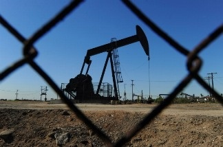 Oil pumps in operation at an oilfield near central Los Angeles on February 02, 2011.