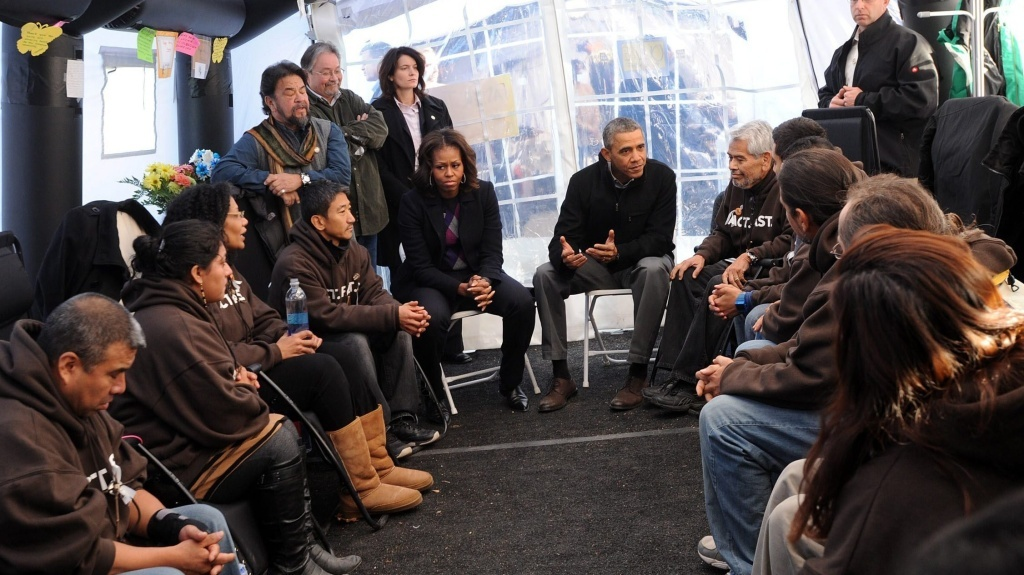 President Obama meets Friday with immigration activists on the National Mall in Washington.