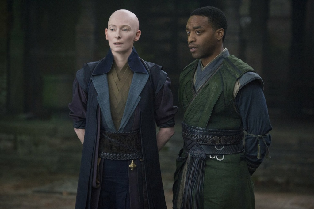 Tilda Swinton and Chiwetel Ejiofor in a scene from