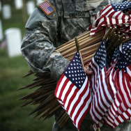 "Arlington National Cemetery Holds ""Flags In"" Ceremony Ahead Of Memorial Day"