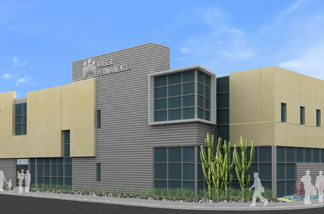 Artist's rendering of new South L.A. Kaiser Permanente medical center