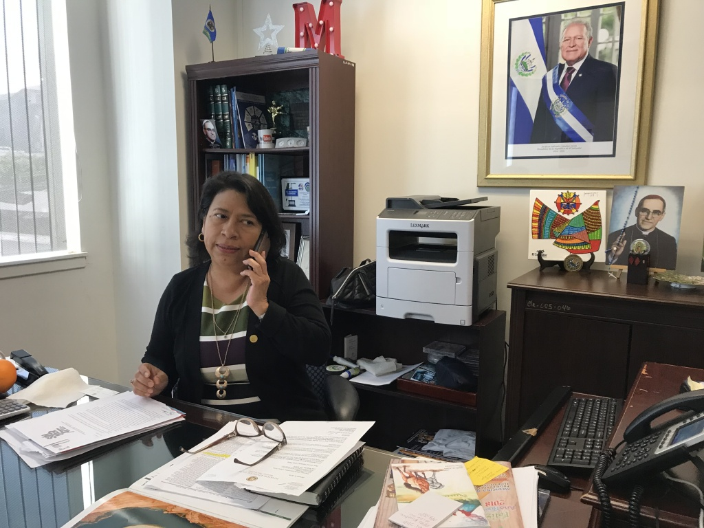 María Mercedes López Peña, El Salvador's Consul General for Los Angeles, is working with the Archdiocese of Los Angeles to get legal aid to Salvadorans losing temporary permission to stay in the U.S.