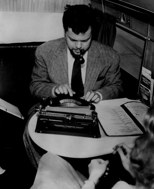 How the hell could Orson Welles write with Rita Hayworth right there?