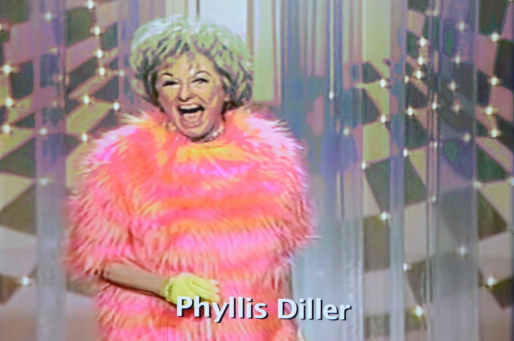 Comedian Phyllis Diller is featured in the In Memoriam tribute during the 64th Annual Primetime Emmy Awards at Nokia Theatre L.A. Live on September 23, 2012 in Los Angeles, California.