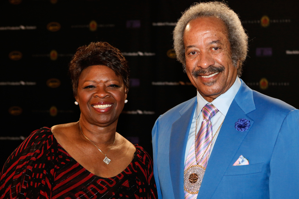 Irma Thomas and Allen Toussaint attend The Musical Mojo of Dr. John: A Celebration of Mac & His Music at the Saenger Theatre on May 3, 2014 in New Orleans, Louisiana.